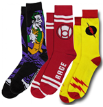 DC Comics Villains 3-Pair Pack of Crew Socks