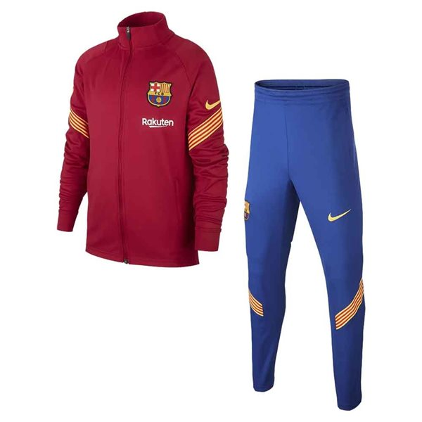 2020-2021 Barcelona Dry Squad Tracksuit (Noble Red) - Kids