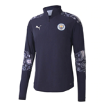 2020-2021 Man City Stadium Half Zip Top (Peacot-Lilac)