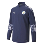 2020-2021 Man City Stadium 1/4 Zip Top (Peacot-Lilac) - Kids