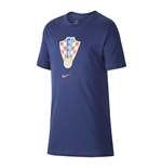 2020-2021 Croatia Crest Tee (Navy) - Kids