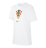 2020-2021 Croatia Crest Tee (White) - Kids
