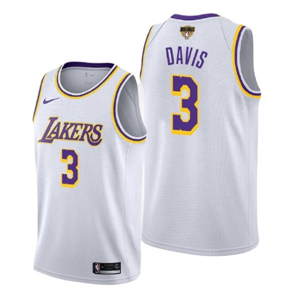 Men's Los Angeles Lakers Anthony Davis Nike White Association Edition Swingman 2020 NBA Finals Jersey