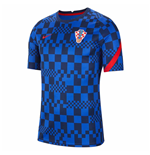 2020-2021 Croatia Nike Pre-Match Training Shirt (Blue)