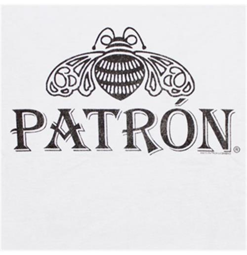 patron basic bee logo white graphic tee shirt for only 163