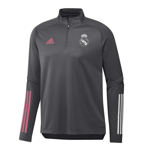 2020-2021 Real Madrid Adidas Training Top (Grey) - Kids