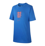 2020-2021 England Nike Evergreen Crest Tee (Blue) - Kids