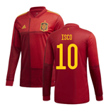 2020-2021 Spain Home Adidas Long Sleeve Shirt (ISCO 10)