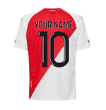 2020-2021 AS Monaco Kappa Home Shirt (Kids) (Your Name)