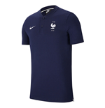 2020-2021 France Nike Authentic Polo Shirt (Obsidian)