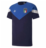 2020-2021 Italy Iconic MCS Tee (Peacot-Blue)