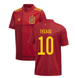 2020-2021 Spain Home Adidas Football Shirt (Kids) (THIAGO 10)