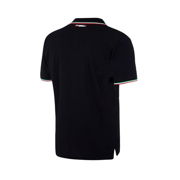 Mens Tricolore Polo Black