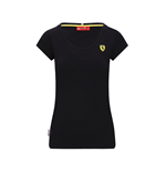 Womens Small Shield Tee Black
