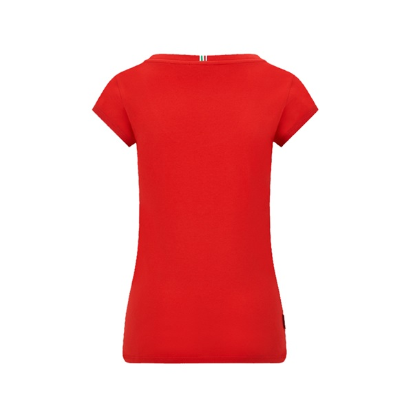 Womens Small Shield Tee Red