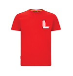 Kids Leclerc Driver Tee Red