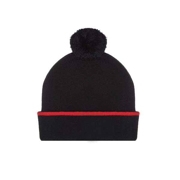130181088-100 Kids Sf Bobble Beanie Black