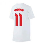 2020-2021 England Nike Evergreen Crest Tee (White) (Greenwood 11)