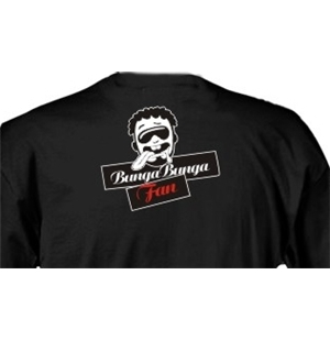 Bunga Bunga Fan Black T-shirt