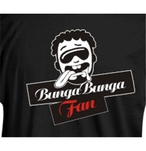 Bunga Bunga Fan White T-shirt