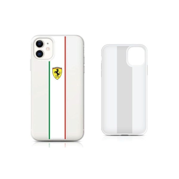 On TRACK- Transparent Case Pista With Italian Flag STRIPES- Transparent
