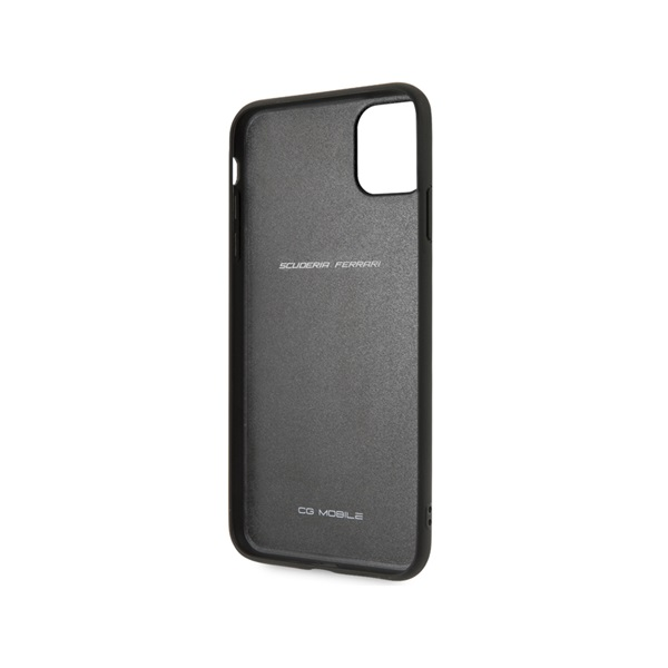Ferrari Off Track Hot Stamped Logo Case With Embossed LINES- Black