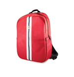 "Backpack 15"" Pista Nylon Metal Logo With Usb CONNECTOR- Red"