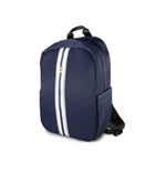 "Backpack 15"" Pista Nylon Metal Logo With Usb CONNECTOR- Navy"