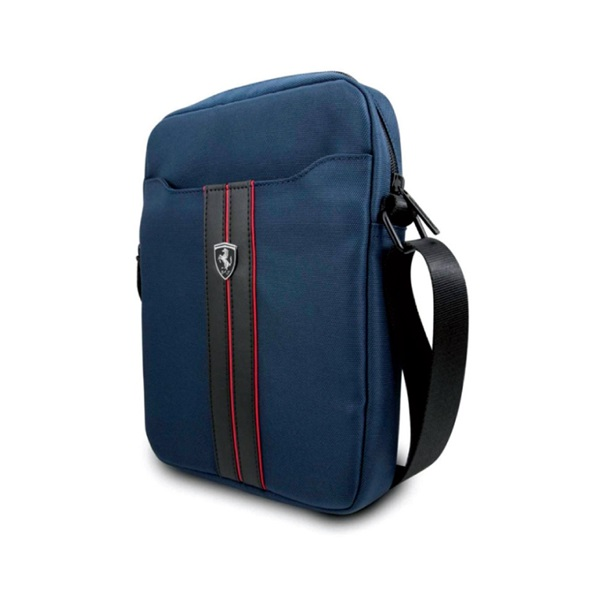 "Urban  Collection Tablet Bag  10"" - Navy With Red Piping"