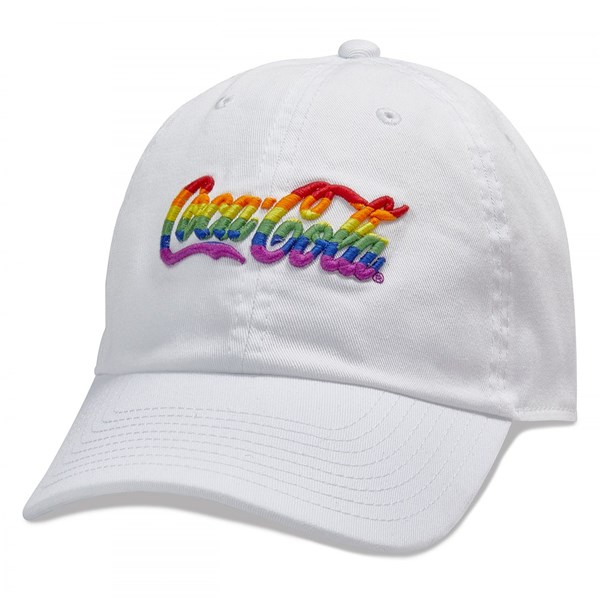 Coca-Cola Rainbow Logo Washed Slouch Dad Hat