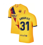 2019-2020 Barcelona Away Nike Football Shirt (Ansu Fati 31)