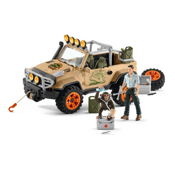 SCHLEICH Wild Life 4x4 Vehicle with Winch Toy Playset, Multi-colour, 5 to 8 Years