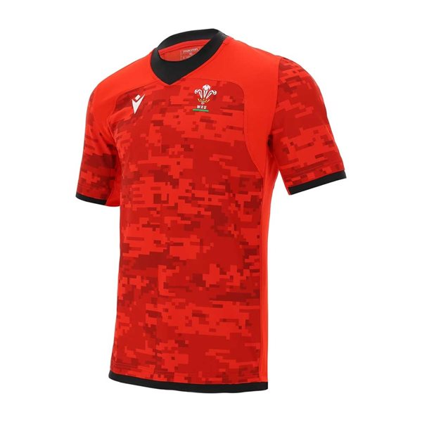 2020-2021 Wales Training Rugby Jersey (Red)