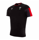 2020-2021 Wales Official Poly Cotton Travel Shirt (Black)