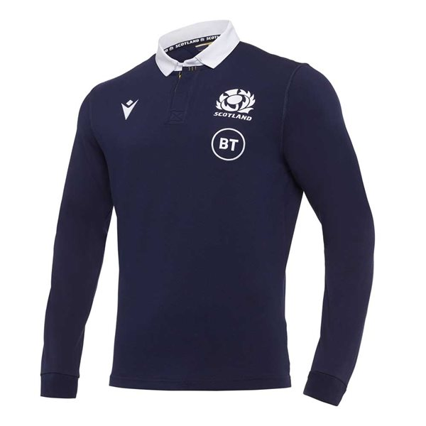 2020-2021 Scotland LS Home Cotton Rugby Shirt