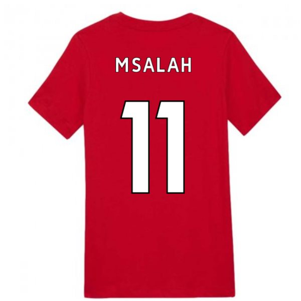 2020-2021 Liverpool Ground Tee (Red) - Kids (M.SALAH 11)