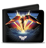 Wonder Woman DC Comics 1984 Golden Armor Bi Fold Wallet