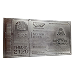Alien Replica Nostromo Ticket Limited Edition (silver plated)