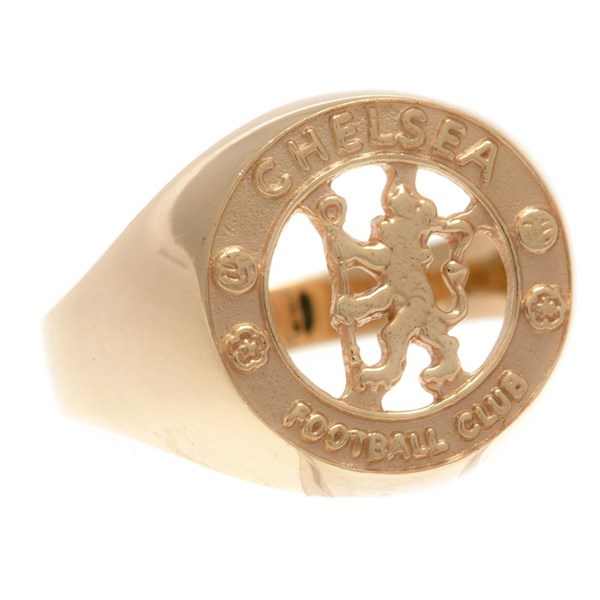 Chelsea FC 9ct Gold Crest Ring Small