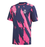 2020-2021 Real Madrid Pre-Match Training Shirt (Blue) - Kids