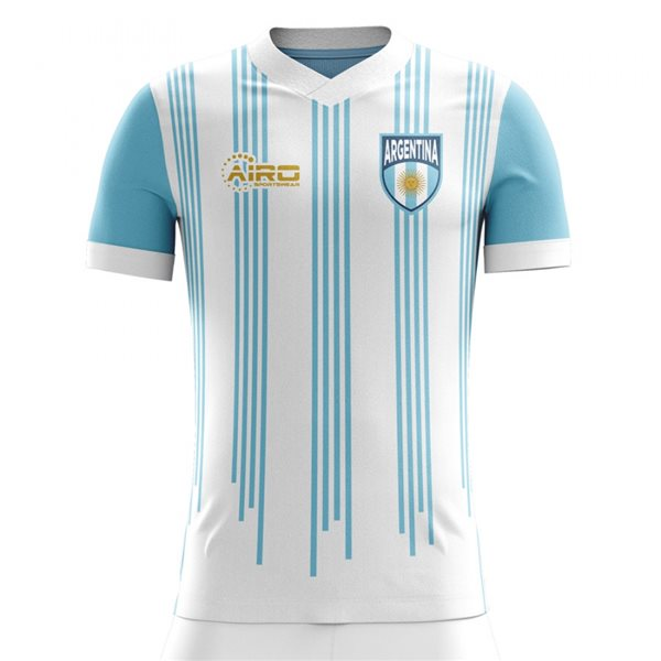 2020-2021 Argentina Home Concept Football Shirt - Kids (Long Sleeve)