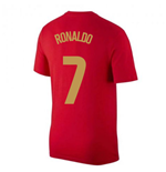2020-2021 Portugal Nike Evergreen Crest Tee (Red) - Kids (RONALDO 7)