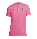 2020-2021 Barcelona Authentic Polo Shirt (Pink)