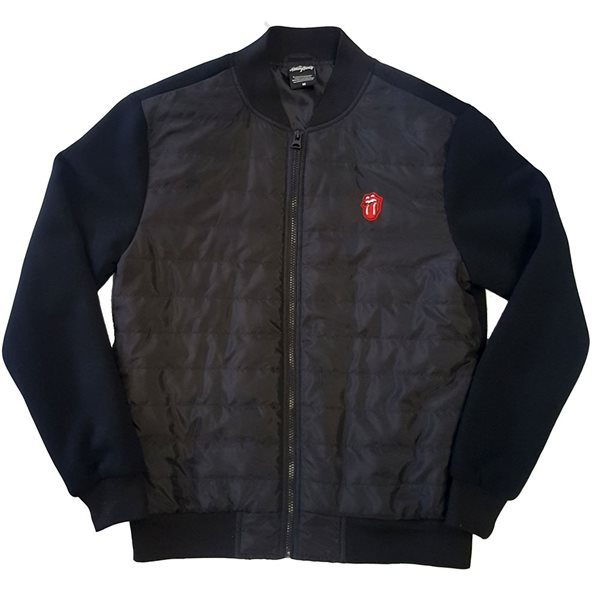 The Rolling Stones Unisex Quilted Jacket: Classic Tongue