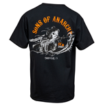 Sons of Anarchy Charging Reaper Back Print T-Shirt