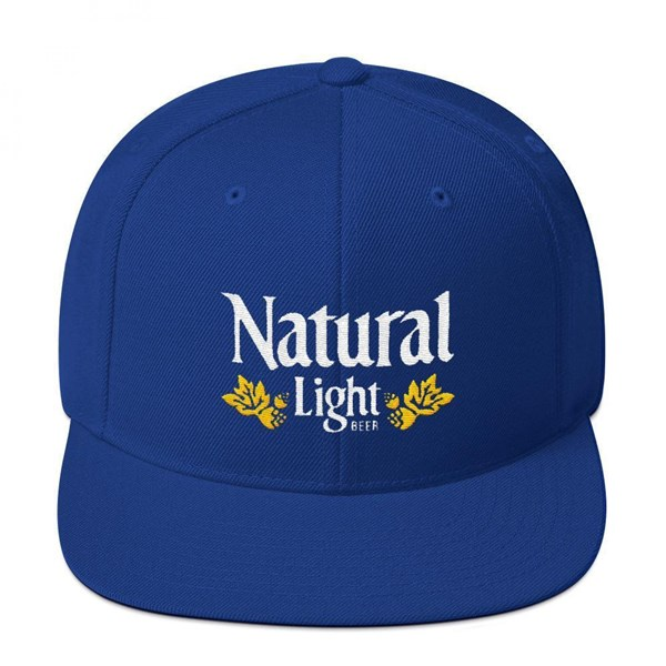Natural Light Beer Vintage Laurels Flatbill Adjustable Snapback Hat
