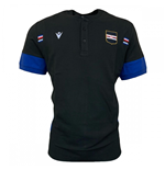 2020-2021 Sampdoria Travel Cotton Polo Shirt (Black)