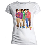 One Direction Ladies Tee: Group Standing Colour (Skinny Fit)