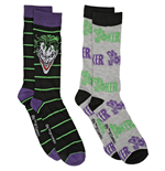 DC Villains The Joker 2-Pair Pack of Casual Crew Socks