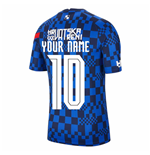 2020-2021 Croatia Nike Pre-Match Training Shirt (Blue) (Your Name)